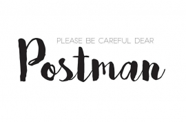 Please be careful dear postman | 85x55mm