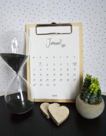 Kalender klembord (13x19)