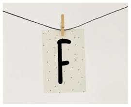 Naamslinger letter F