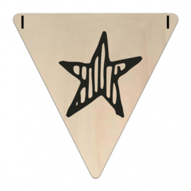 Houten Vlaggetje | ster
