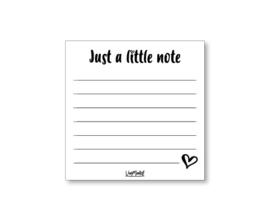 Notitieblok Just a little note