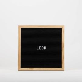 Letterbord zwart - 30x30