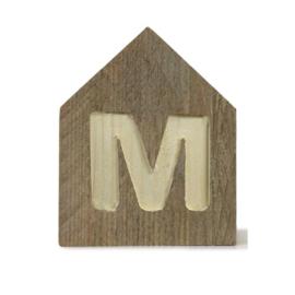 Letterhuisjes - Huisje M