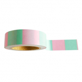 Masking tape mint pink