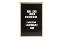Oldschool letter board 30 x 45 (zwart)