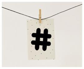 Naamslinger Symbool hashtag