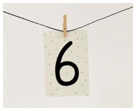 Naamslinger cijfer 6