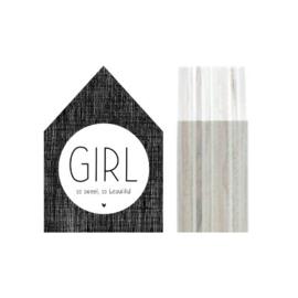 Huisje hout | Girl maat S