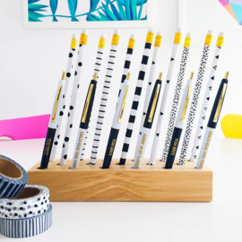 Studio Stationery - Black & white Ballpen set (3 stuks)