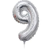 Folie Ballon cijfer 9