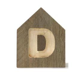 Letterhuisjes - Huisje D