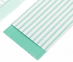 mint stripes 7 x 13 cm