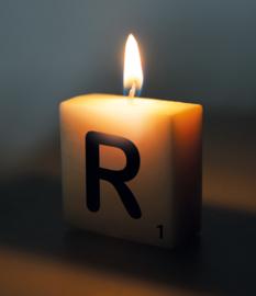 Letterkaars - R