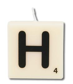 Letterkaars - H