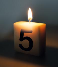 Letterkaars - 5 (cijfer)