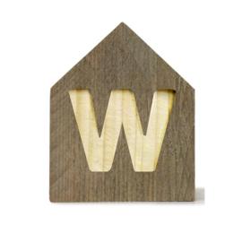 Letterhuisjes - Huisje W