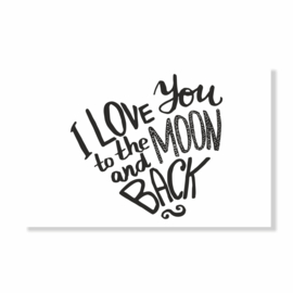 Kadokaart | I love you to the moon and back