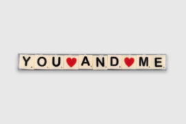 Letterkaarsjes in verpakking - You and me