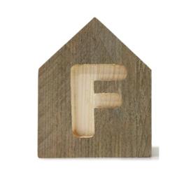 Letterhuisjes - Huisje F