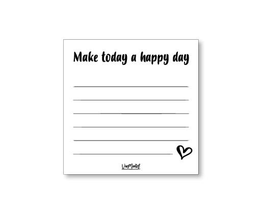 Notitieblok Happy day