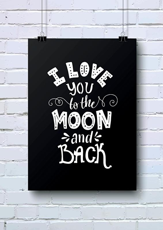 A4 | I love you to the moon and back