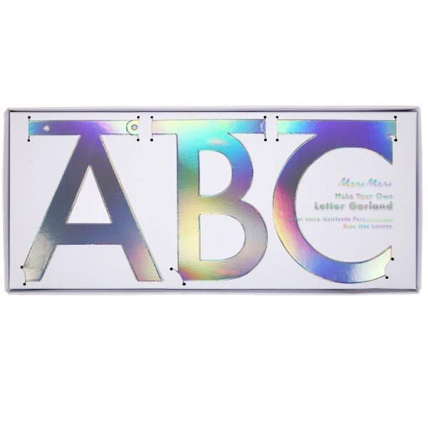 """Word banner """"holographic silver"""""""
