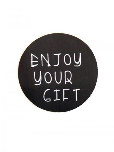 Enjoy your gift | 40 mm (zwart)