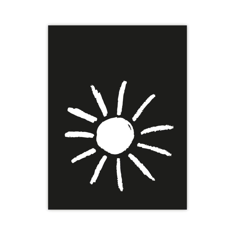 Letterslinger - symbool zon