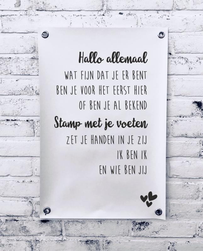 Tuinposter - Hallo Allemaal