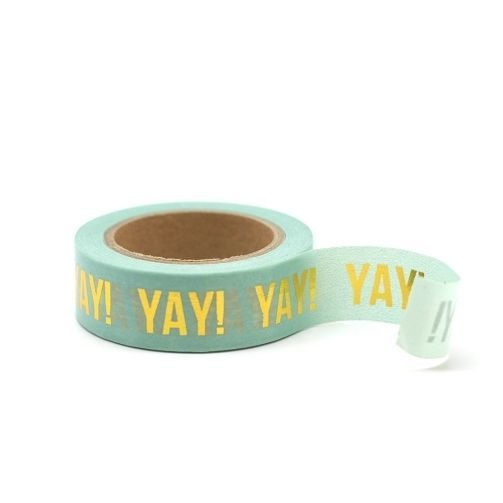 Masking tape groen YAY!