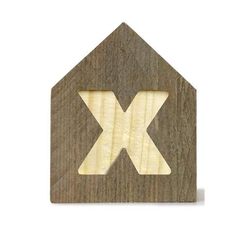 Letterhuisjes - Huisje X