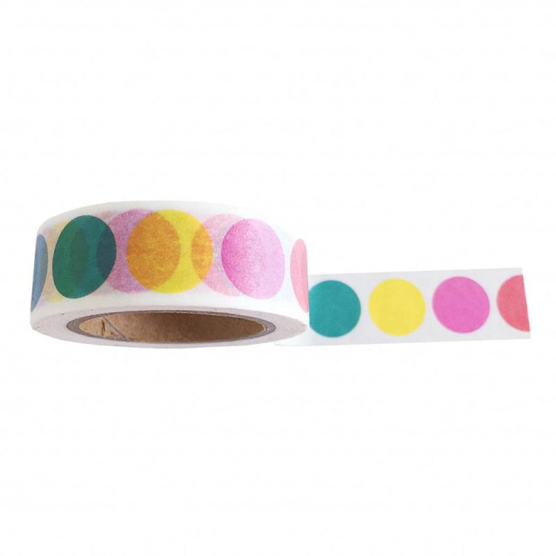 Masking tape Rainbow dots