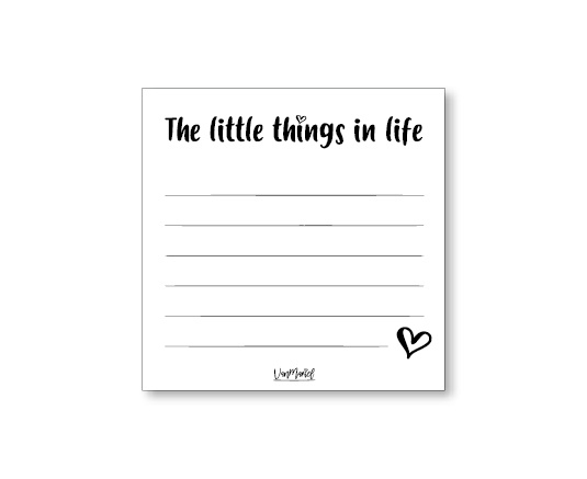 Notitieblok the little things in life
