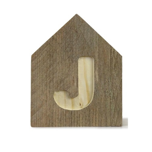 Letterhuisjes - Huisje J