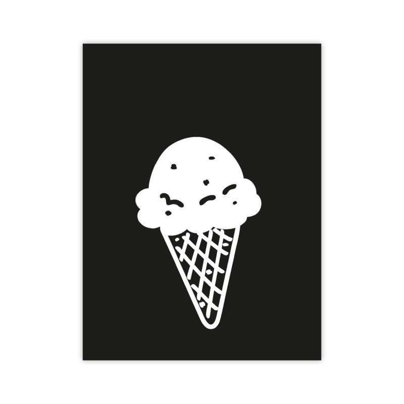 Letterslinger - symbool ijsje