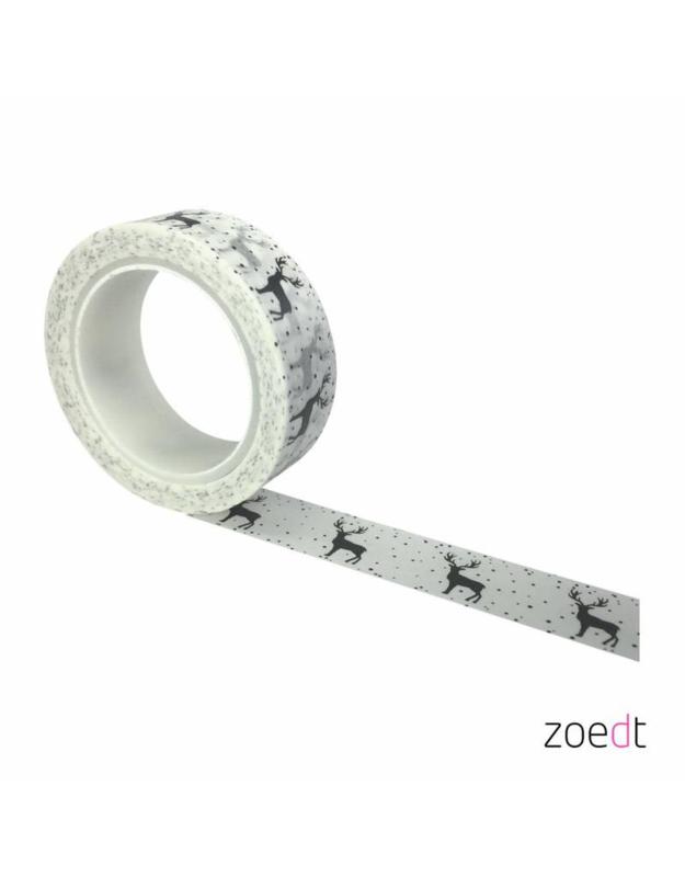 Masking tape wit hert in sneeuw