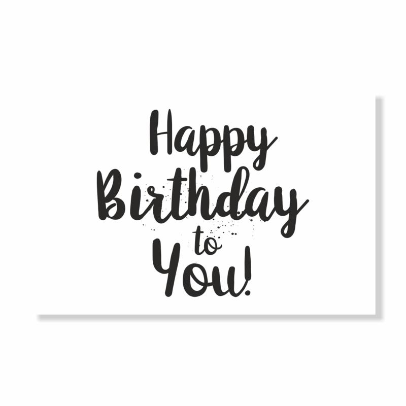 Kadokaart   Happy birthday