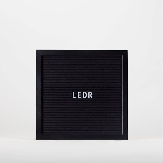 Letterbord dubbel zwart - 30x30