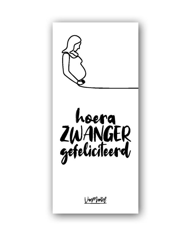 Kadolabel | Hoera zwanger gefeliciteerd