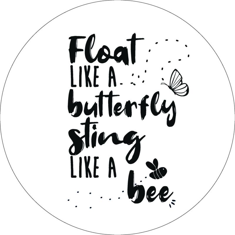 Wandcirkel - Float like a butterfly