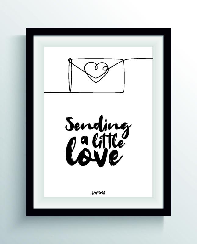 Sending a little love (one line)