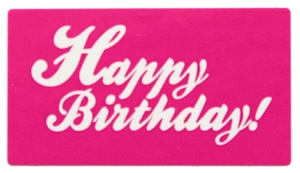 Happy Birthday roze 45x25 mm