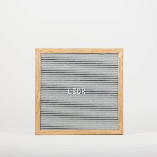 Letterbord grijs - 30x30