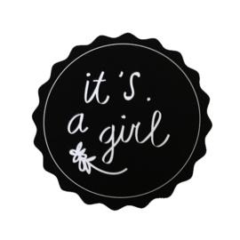 It's a girl! | 40 mm (zwart)