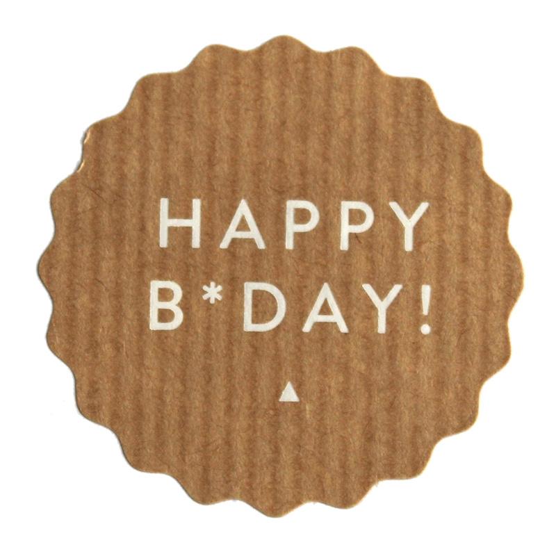 Happy B*day! | 50 mm (kraft)
