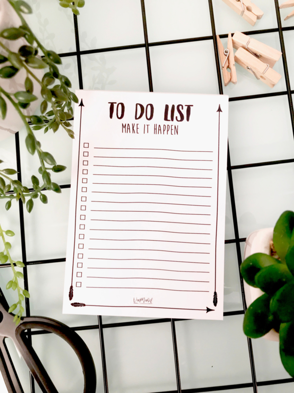 To do-list notitieboek (A6)