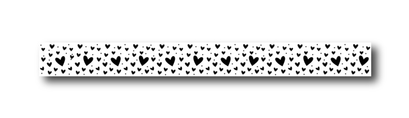 Masking tape hearts all over
