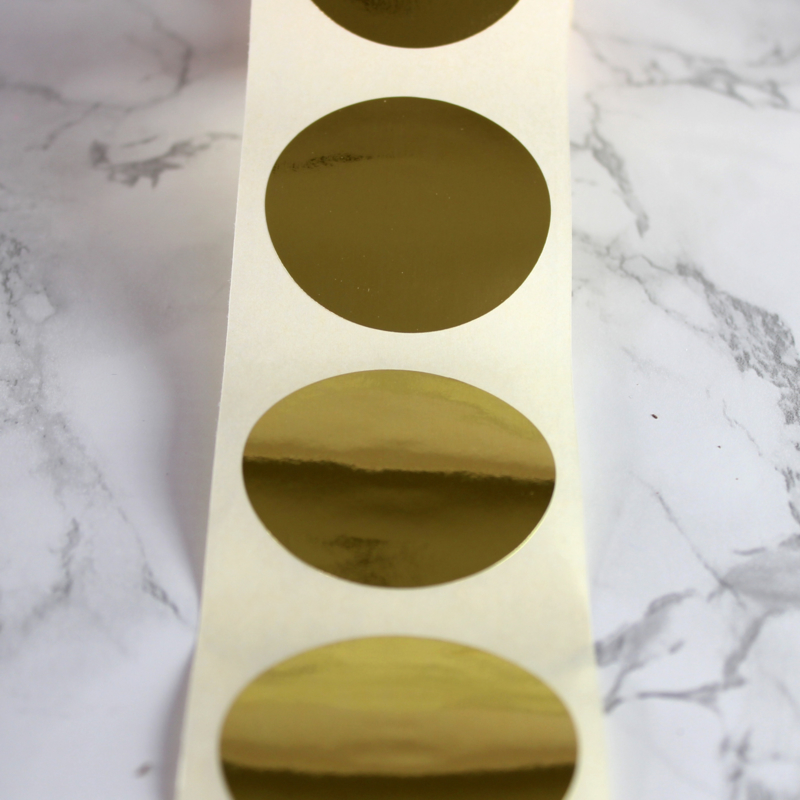 Sluitzegel rond | 43 mm (goud)