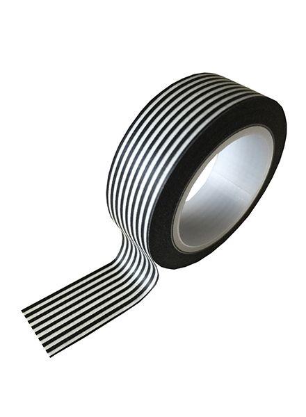 Masking tape small black and white stripes