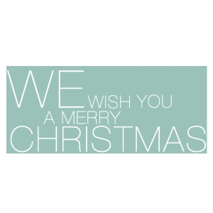 We wish you a merry christmas mint groen